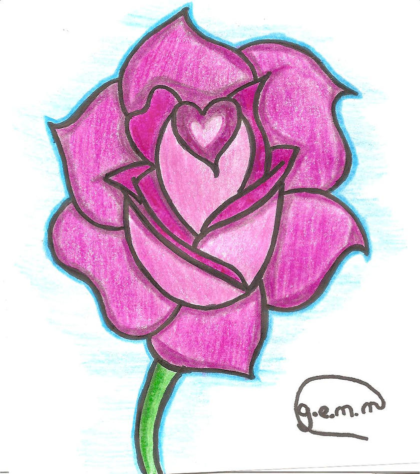 Uncategorized A Simple Rose Drawing a simple rose by enid7 on deviantart enid7