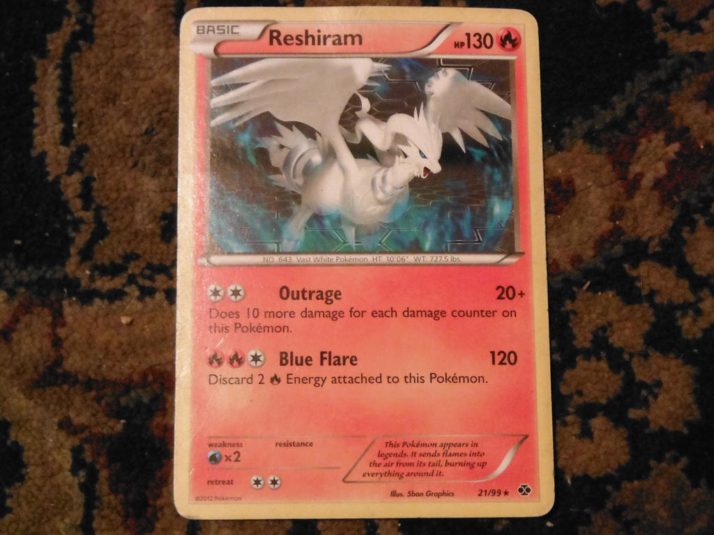 reshiram pokemon card by pokemon-celebi-yay