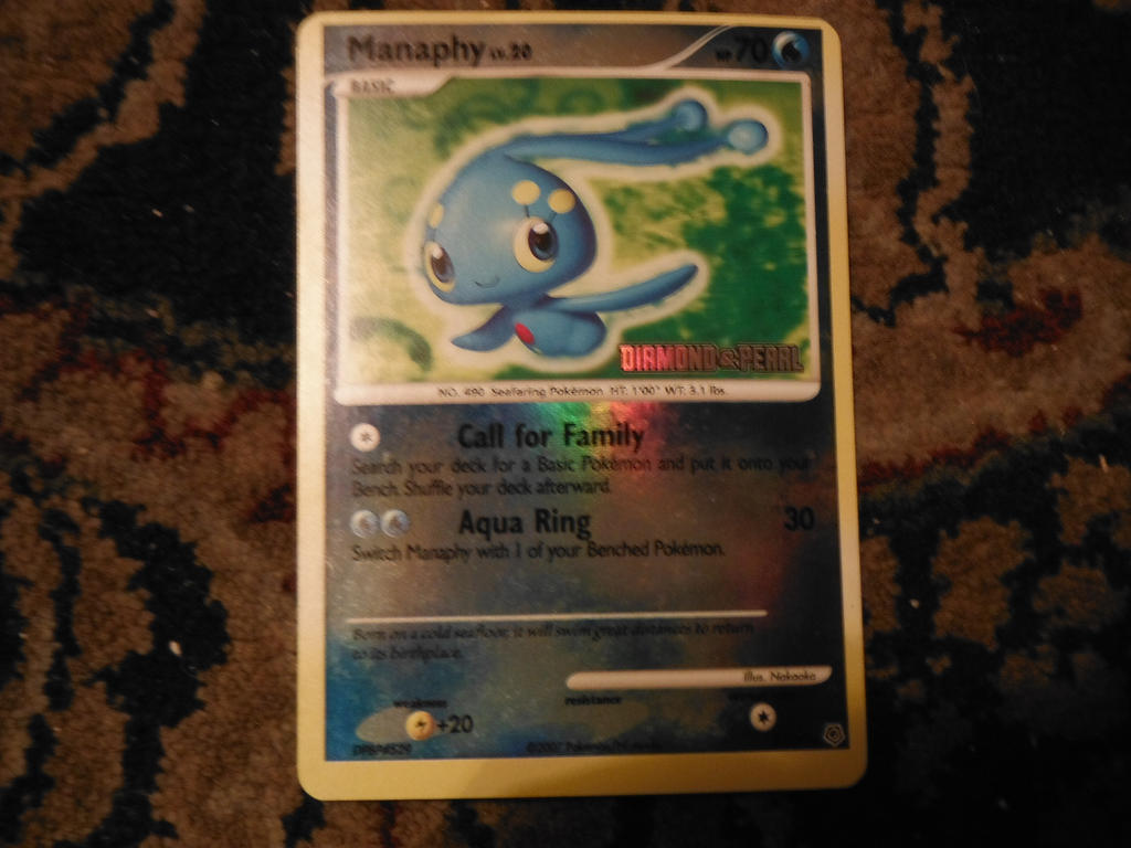 manaphy pokemon card by pokemon-celebi-yay