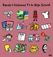 Bands I Listened To In High School by damnkidyk