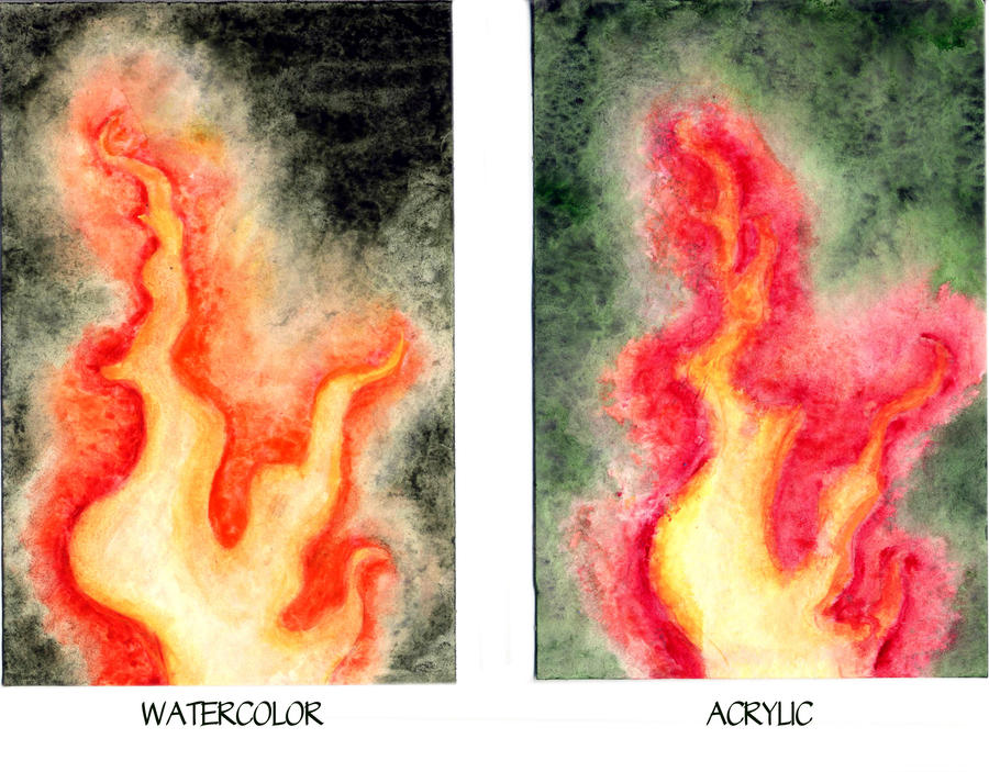 Watercolor Vs Oil Painting Vs Acrylic