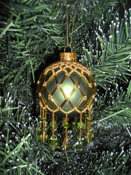 Beaded Bauble Green