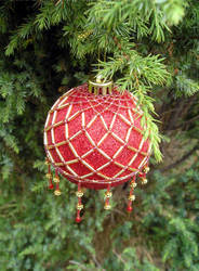 Gold and Red Bauble 2