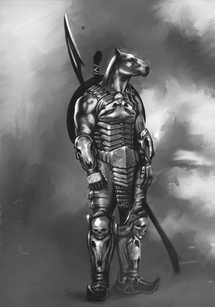 Horse Warrior Concept Art. by arganza on DeviantArt  Horse Warrior C...