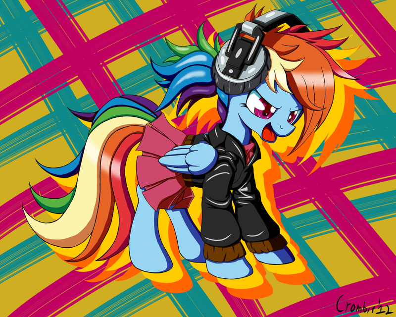 Rainbowdash is a Punk Rocker by CrombieTTW