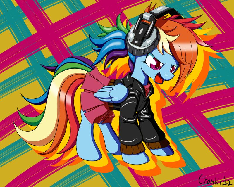 Rainbowdash is a Punk Rocker by CrombieTTW