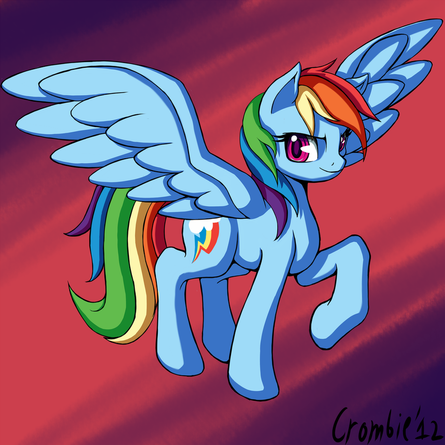 Rainbowdash. by CrombieTTW