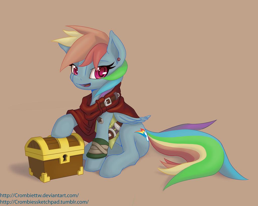 Rainbowdash the Thief by CrombieTTW