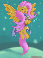 Fluttershy the Bard by CrombieTTW
