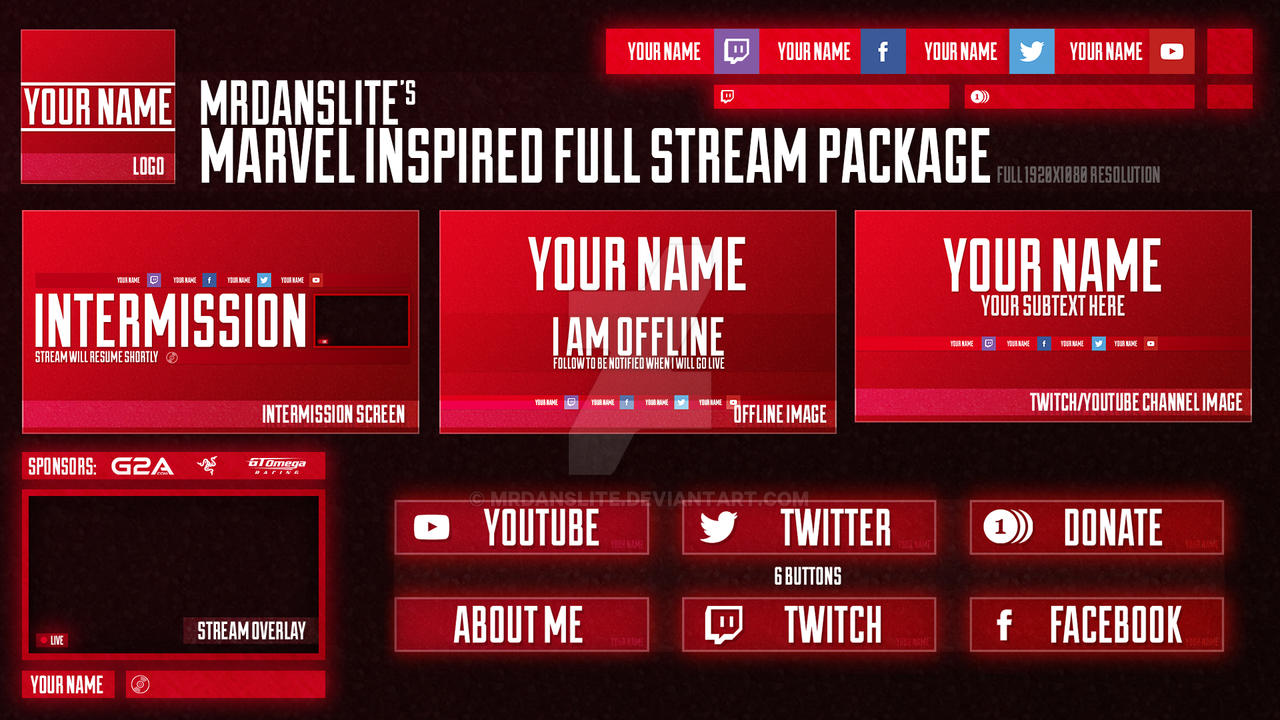 Anomally Twitch Package By Killboxgraphics Deviantart
