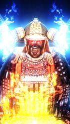 Samurai Monkey is on fire by MrDanSLite