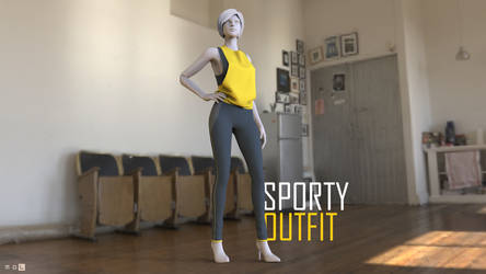 Sporty Outfit | My First Marvelous Designer test by MrDanSLite