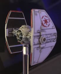 Tie Advanced Prototype with Red Empire logo