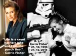 Rip to Carrie Fisher alias Princess Leia