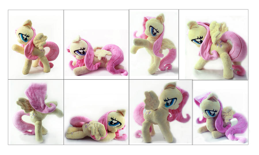 Completely Poseable My Fluttershy Minky Plushy by Plasticcandyxxx