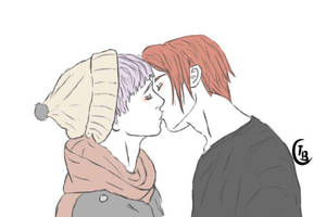 RinTori Kiss by the-batcow
