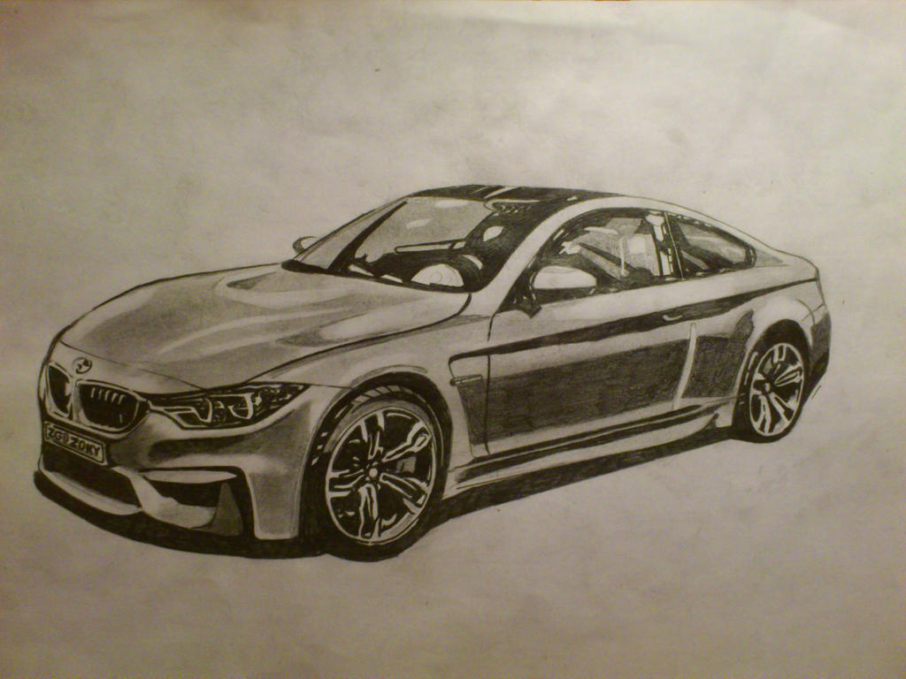 Bmw M4 Drawing By Zoky88 On Deviantart