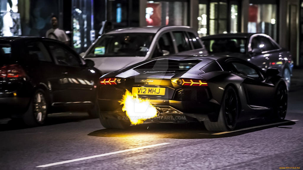 Lamborghini-aventador-traffic-exhaust-pipe-flames by zoky88 ... & Lamborghini-aventador-traffic-exhaust-pipe-flames by zoky88 on ...