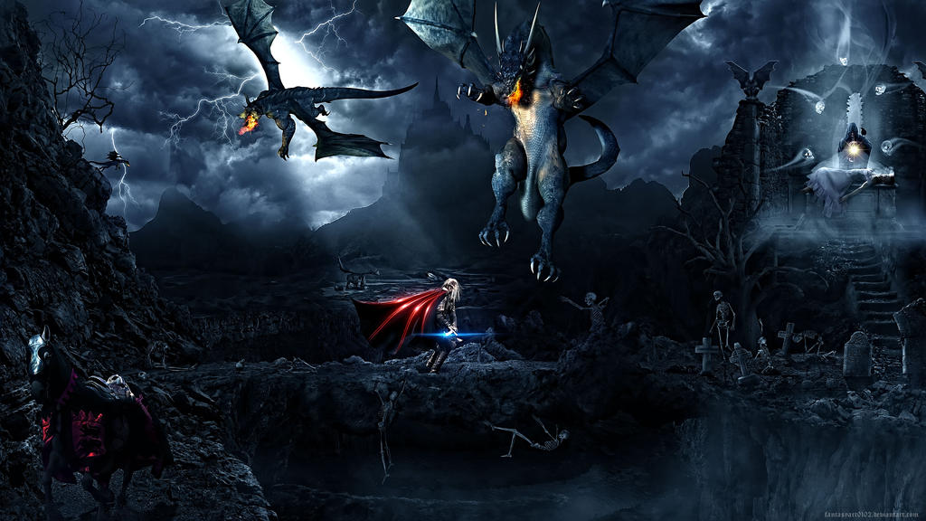 Dragon valley by FantasyArt0102