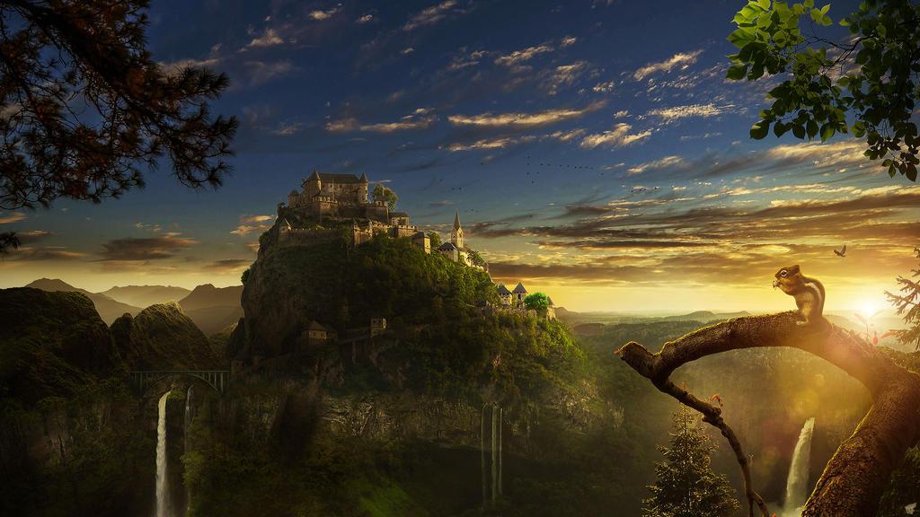 Sunset Castle by FantasyArt0102