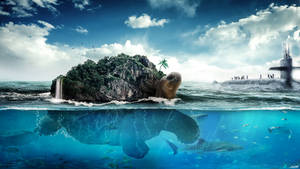 Turtle island by FantasyArt0102