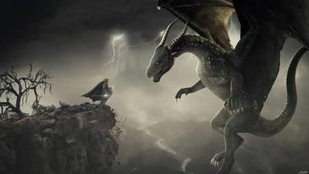 Dragon Hunter by FantasyArt0102