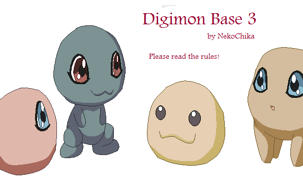Digimon Base 3 by NekoChika