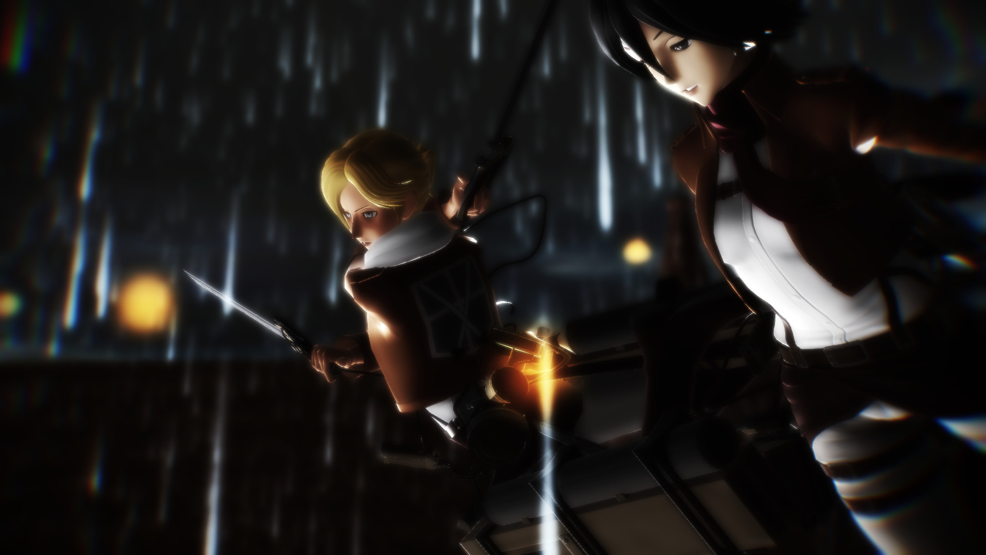 3d mmd mikasa ackerman big tits and ass body to body