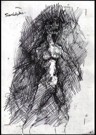 .Fool Sketch VIII by Harmoniagrief