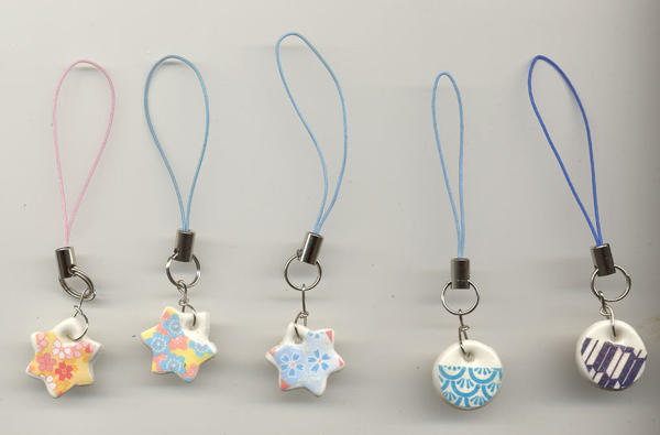 Small Clay Origami Cell Charms By Aichan25 On Deviantart