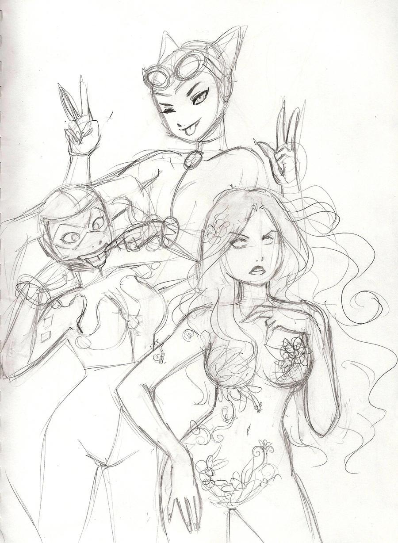 WIP Gotham Girls by aichan25