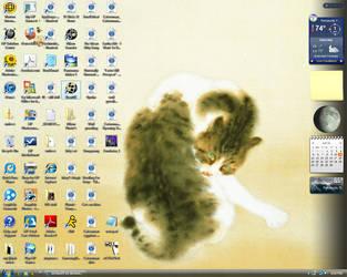 cat wallpaper by aichan25