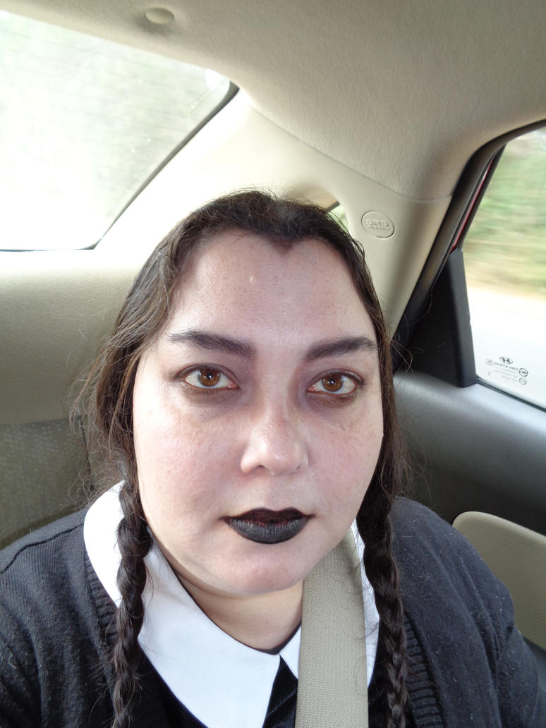 my wednesday addams makeup by aichan25