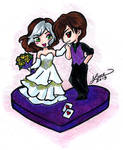 Rogue And Gambit Cake Topper design
