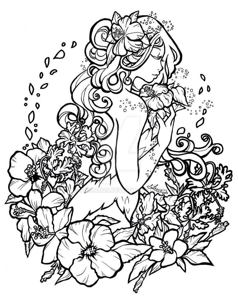 Poison Ivy Hibiscus Edit Inks by aichan25