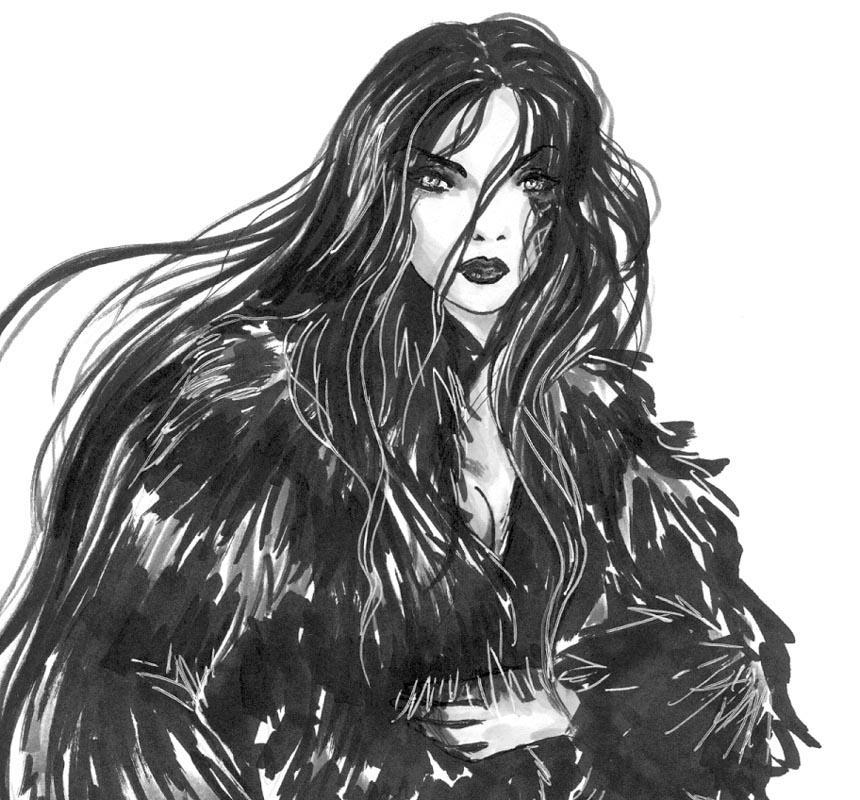 FFVIII Edea in Fur by aichan25