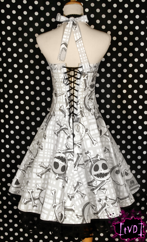 Nightmare Before Christmas Jack Heads Dress (back) by
