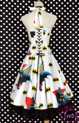 Batman Vintage Logo Dress 2 by TheVintageDoctor