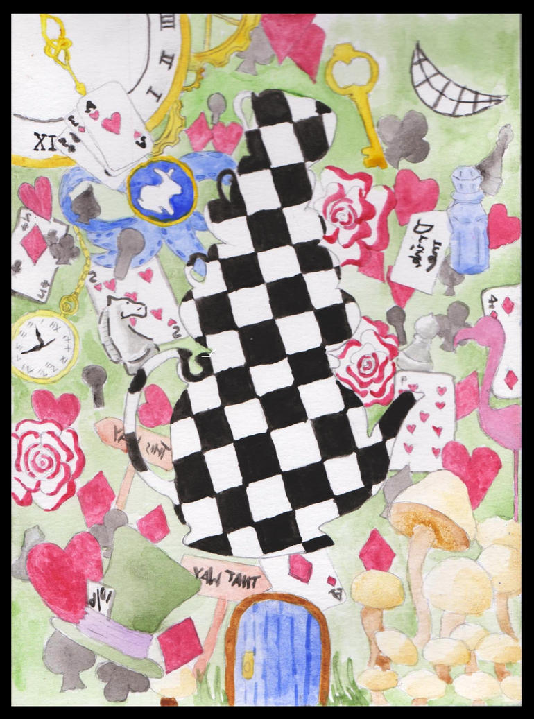 Wonderland Montage by CuriousBunnyClothing