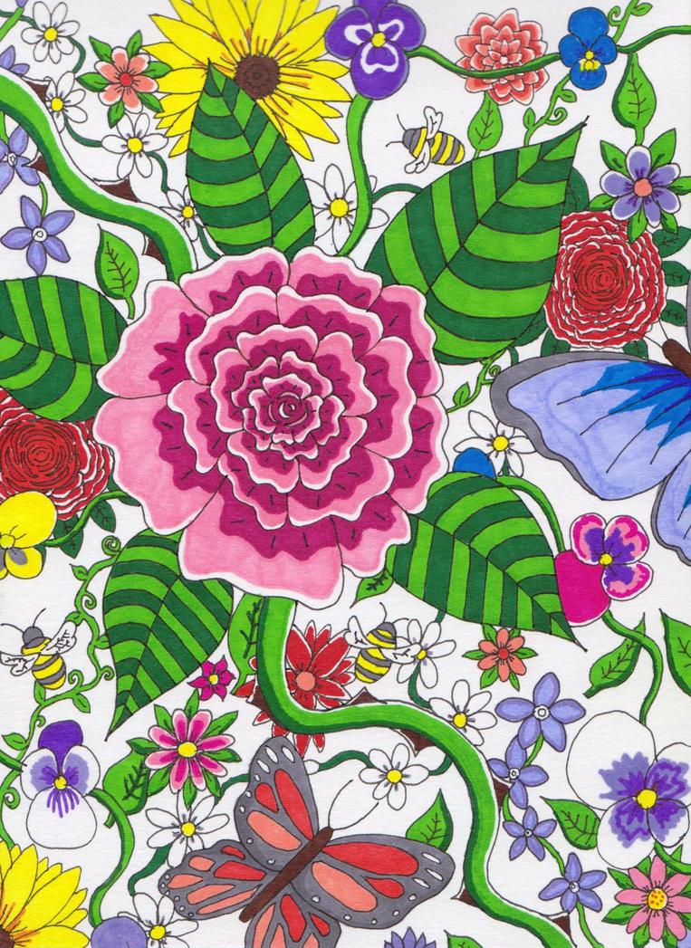 Floral Garden by CuriousBunnyClothing