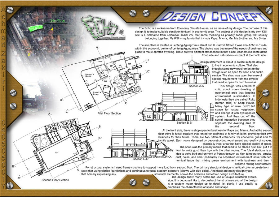design concept echo house by kiekie21 - House Design Concept