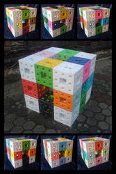 Menger Sponge - level three by lonely--soldier