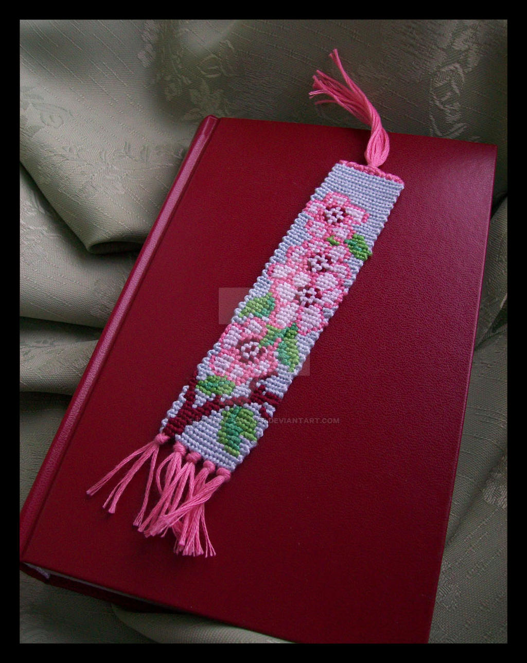 Blossom flowers bookmark by lonely--soldier
