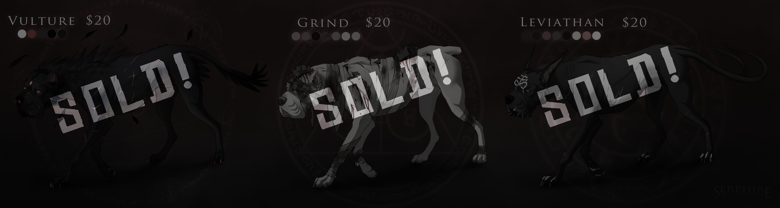Halloween Horror Hounds // CLOSED // ALL SOLD! by Serphire