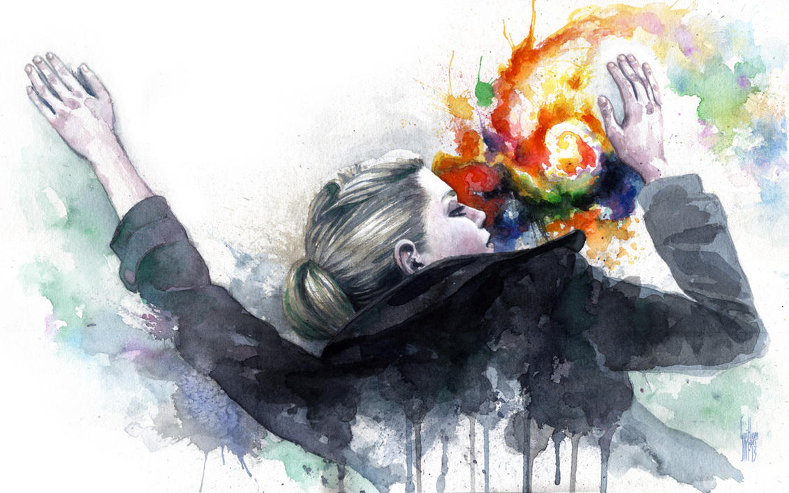 Different colors made of tears by guillembe on deviantart for Creative paintings pictures