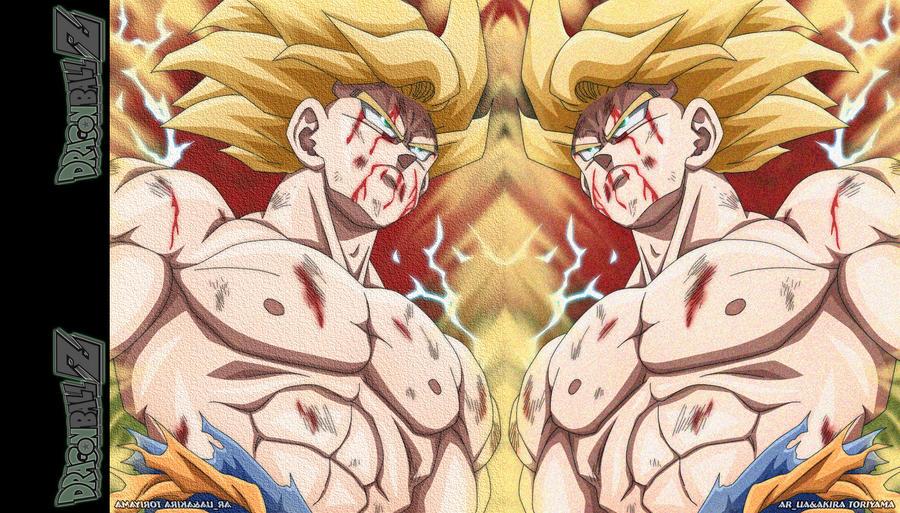 Goku SSJ Tribute with Logo by shinigamisgem