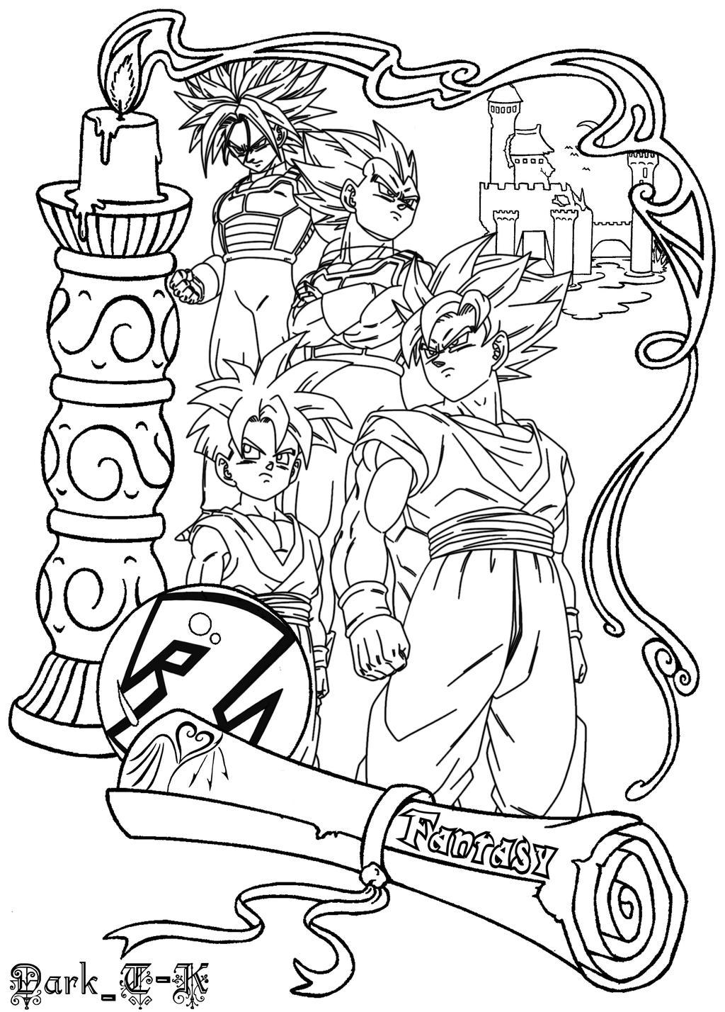 A Girls DBZ Fantasy by shinigamisgem