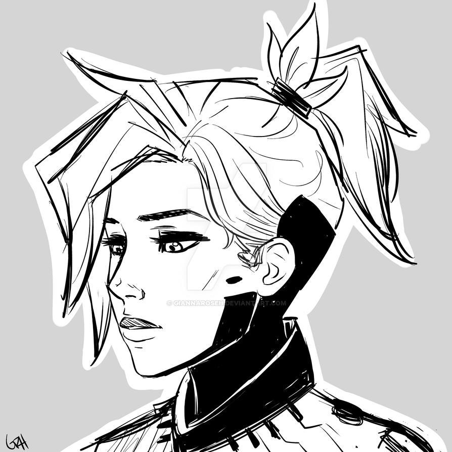 Mercy sketch by GiannaRoseH