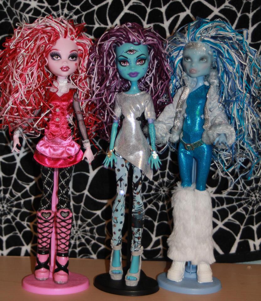 My new funky dolls by rainbow1977