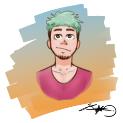 green hair by GuruY